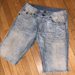 True religion denim jeans shorts pants bottoms